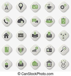 Set of universal office and organizational icons. Vector...