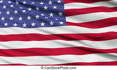 53 Stars USA Close Up Waving Flag - 53 Stars United States...