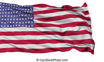 96 Stars USA Isolated Waving Flag - 96 Stars United States...