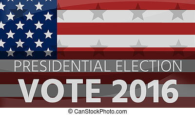 America Presidential Election 2016 Flag Background