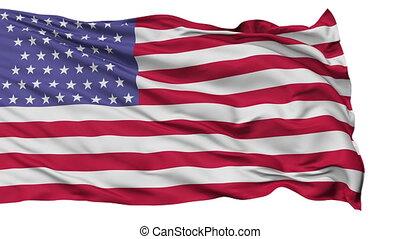54 Stars USA Isolated Waving Flag - 54 Stars United States...