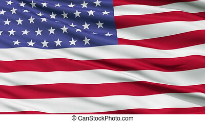55 Stars USA Close Up Waving Flag - 55 Stars United States...