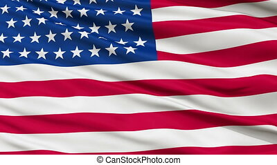 51 Stars USA Close Up Waving Flag - 51 Stars United States...