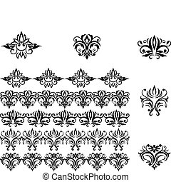 Flower patterns and borders