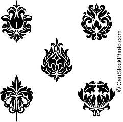 Floral patterns - Black flower patterns for design and...