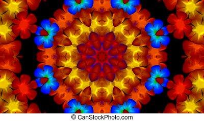 flicker flower wreath,disco pattern