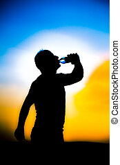 Feeling thirsty - athletes to drink water