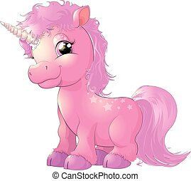 beautiful pink unicorn - beautiful pink magical unicorn on...