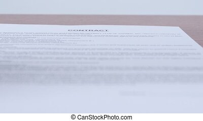 Woman refuses in the signing of a contract Dynamic change of...