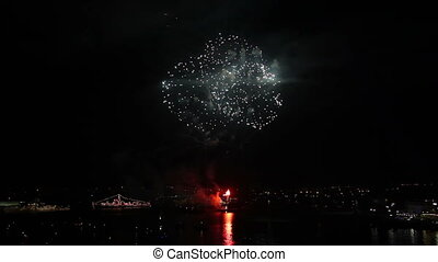 Fireworks on the day of Russian Navy