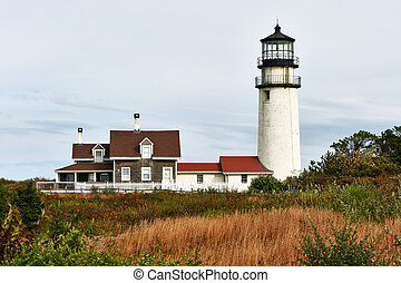 Highland Lighthouse at Cape Cod, built in 1797 - Highland...