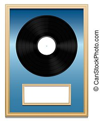 Vinyl Record Music Award Plaque - Vinyl record - Music award...