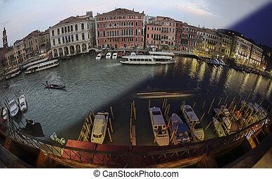 Venice transition Panorama Fisheye - Venice Panorama Rialto...