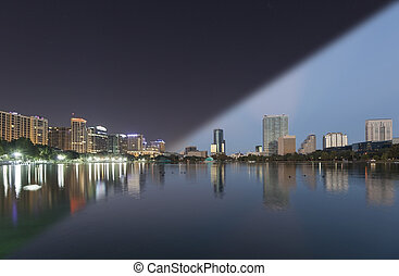 Orlando Skyline twilight transition