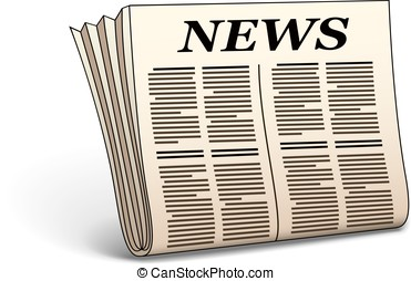 Vector newspaper icon - News icon Vector illustration of...