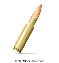 Bullet Realistic Style on White Background. Vector...