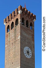 Ancient Tower of Castle in Italy - Ancient Tower of Castle...