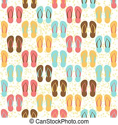 flip flops seamless pattern - Flip flops seamless pattern on...
