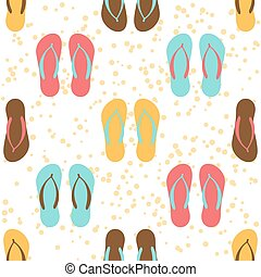 colored flip flops - Bright flip flops seamless pattern on a...