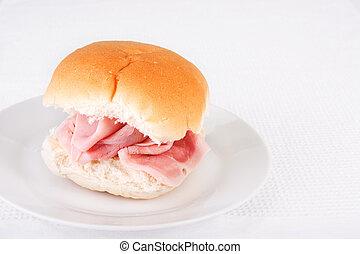 jamón, bread, rollo, o, bap