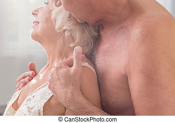 Feeling love and affection - Cropped picture of an elderly...