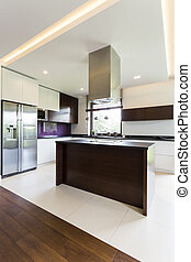Modern open kitchen idea - Light and spacious modern open...