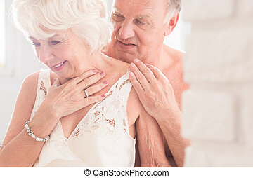 Every day together is unique - Shot of a romantic elderly...