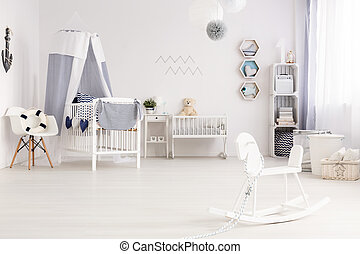 Decorated with lots of motherly love - Airy baby room...
