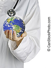 Metaphor of caring for Earth.Elements of this image...