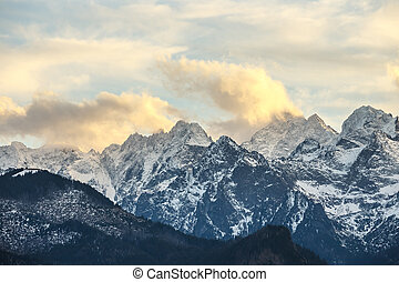 Sunset over Tatra Mountains, Poland