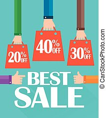 Flat modern design best sale, shopping bag