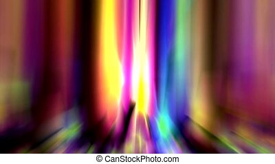 Abstract strokes of color light