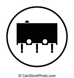 Micro button icon icon Thin circle design Vector...