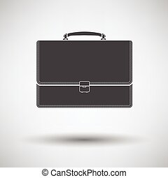 Suitcase icon on gray background with round shadow Vector...