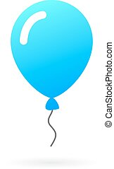 Helium balloon icon isolated on white background