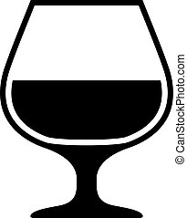 Alcohol glass icon
