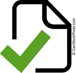 Approved document icon