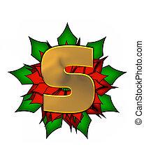 Alphabet Christmas Poinsettia S