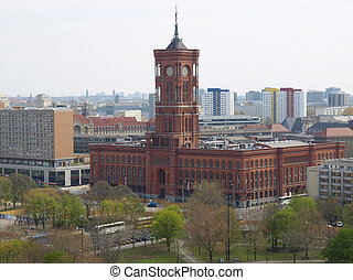 Rotes Rathaus, Berlin - Rotes Rathaus The Red Town Hall,...
