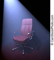 Chair / Important Person Missing - The light with fog effect...