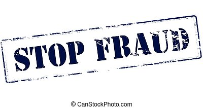 Stop fraud - Rubber stamp with text stop fraud inside,...