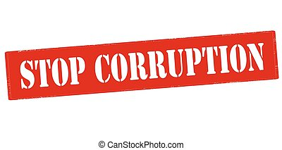 Stop corruption - Rubber stamp with text stop corruption...