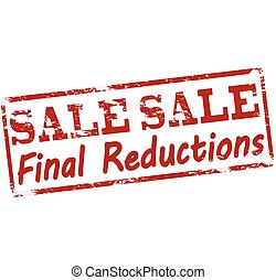 Sale final reductions - Rubber stamp with text sale final...