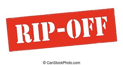 Rip off - Rubber stamp with text rip off inside, vector...