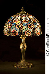 Tiffany-style Lamp - Vertical shot of a Tiffany-style Lamp...