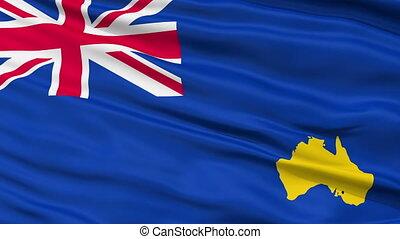 Bumbunga Micronation Close Up Waving Flag - Bumbunga...