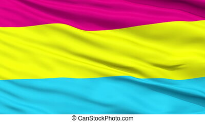 Pansexual Pride Close Up Waving Flag - Pansexual Pride Flag,...