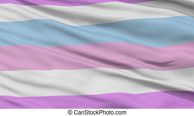 Bigender Pride Close Up Waving Flag