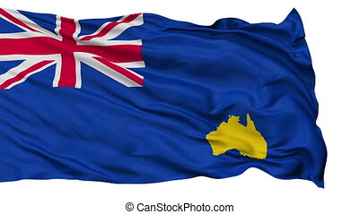 Bumbunga Micronation Isolated Waving Flag - Bumbunga...
