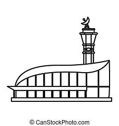 isolated airport icon